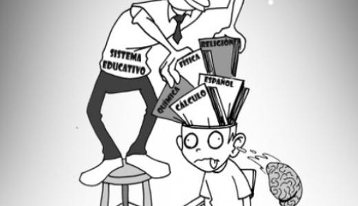 Caricatura de cómo funciona el sistema educativo