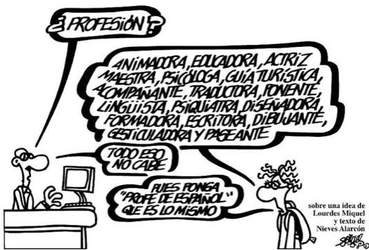 Caricatura sobre profesiones