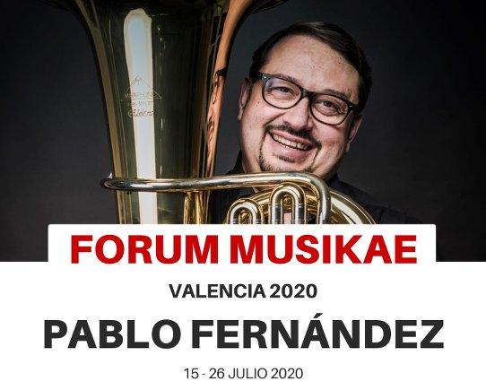 Pablo Fernández imparte curso de tuba en Forum Musikae