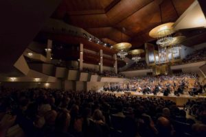 La Orquesta Nacional de España durante un concierto