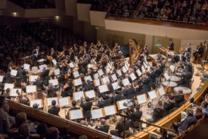 Orquesta Nacional de España durante un concierto