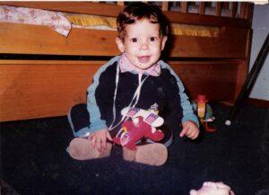 Patricio Cosentino en su infancia